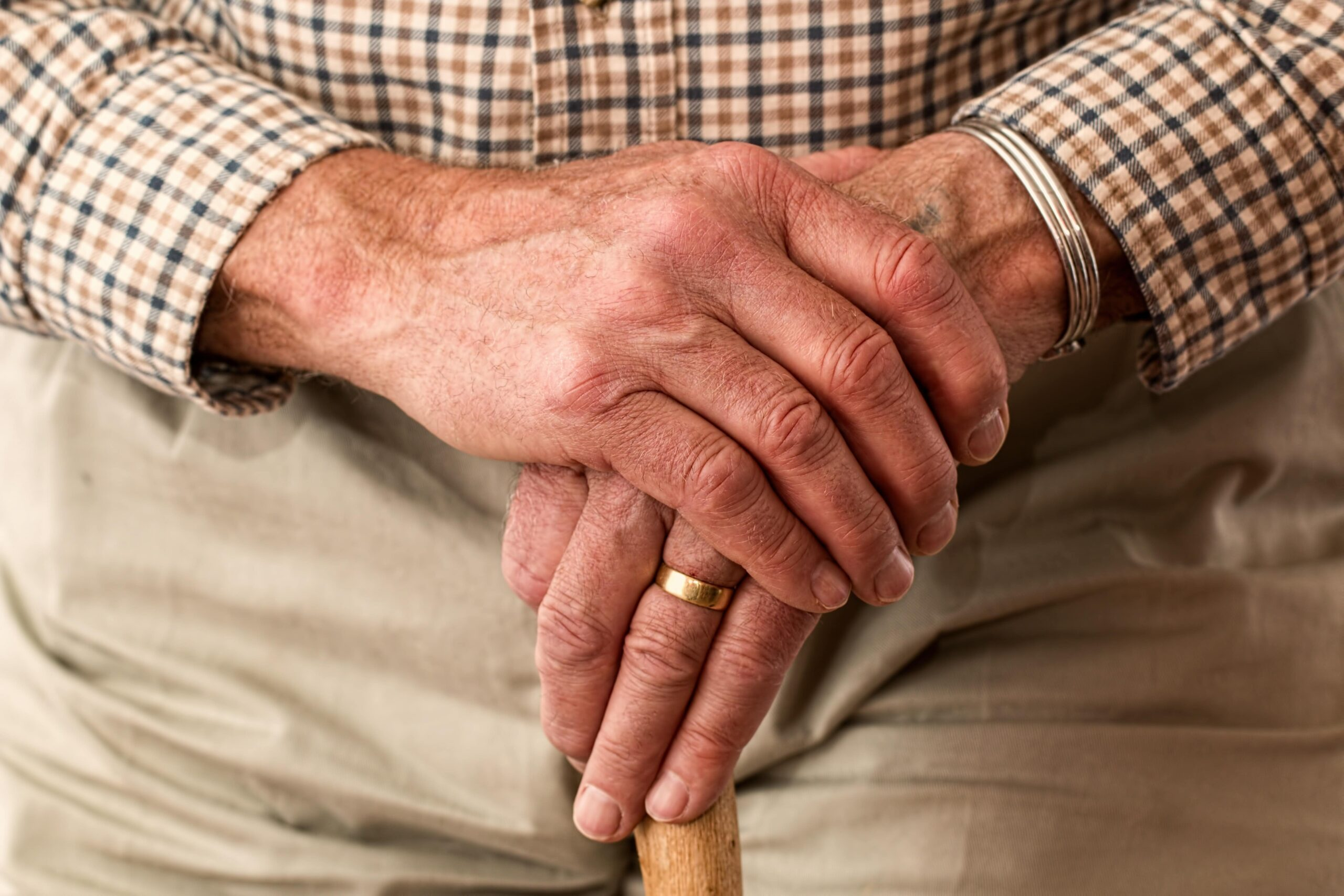 Memory Care elder's hands at Assisted Living in McLean, VA